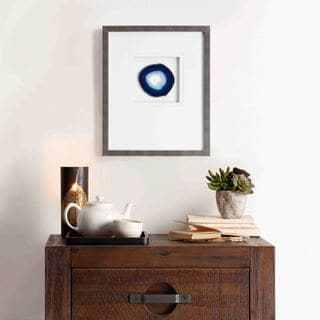 Madison Park Blue Agate Stone Framed Art