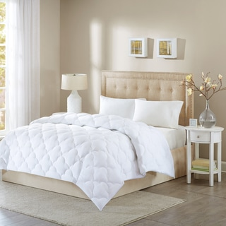 Wonder Wool by Sleep Philosophy 300TC Cotton Sateen Cloud Quilted Down Alternative Comforter with Corded Cotton Rope