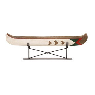 Adirondack Large Canoe on Metal Stand