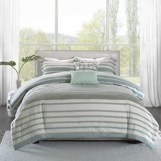 Madison Park Pure Burke 5-Piece Cotton Duvet Cover Set