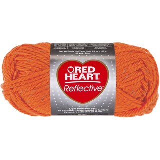 Red Heart Reflective YarnNeon Orange - 88 yds