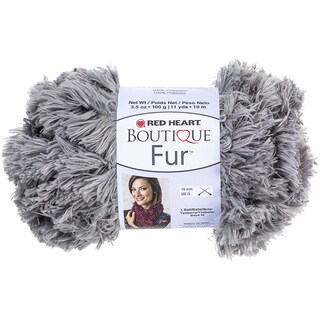 Red Heart Boutique Fur YarnSmoke