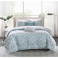 Madison Park Pure Lucia 5-piece Cotton Percale Reversible Comforter Set