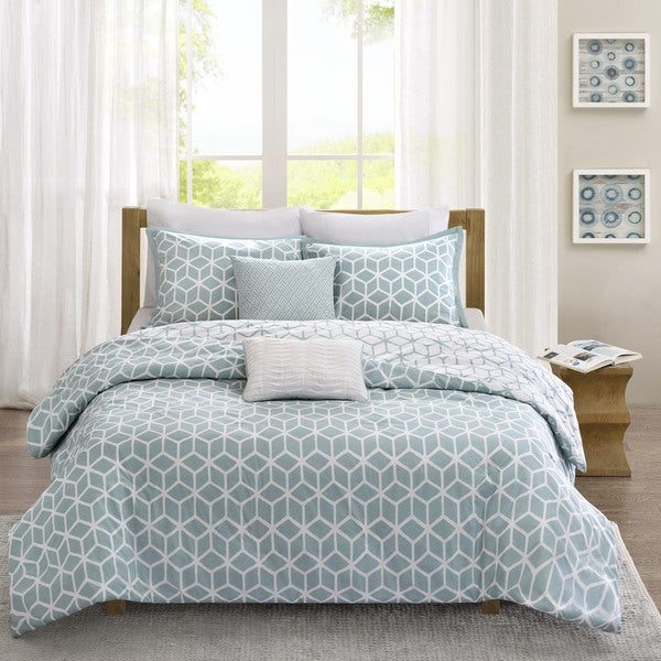Madison Park Pure Andrea 5-Piece Reversible Duvet Cover Set