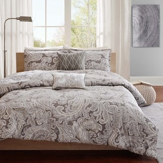 Madison Park Pure Dermot 5-piece Cotton Duvet Cover Set 2-Color Option