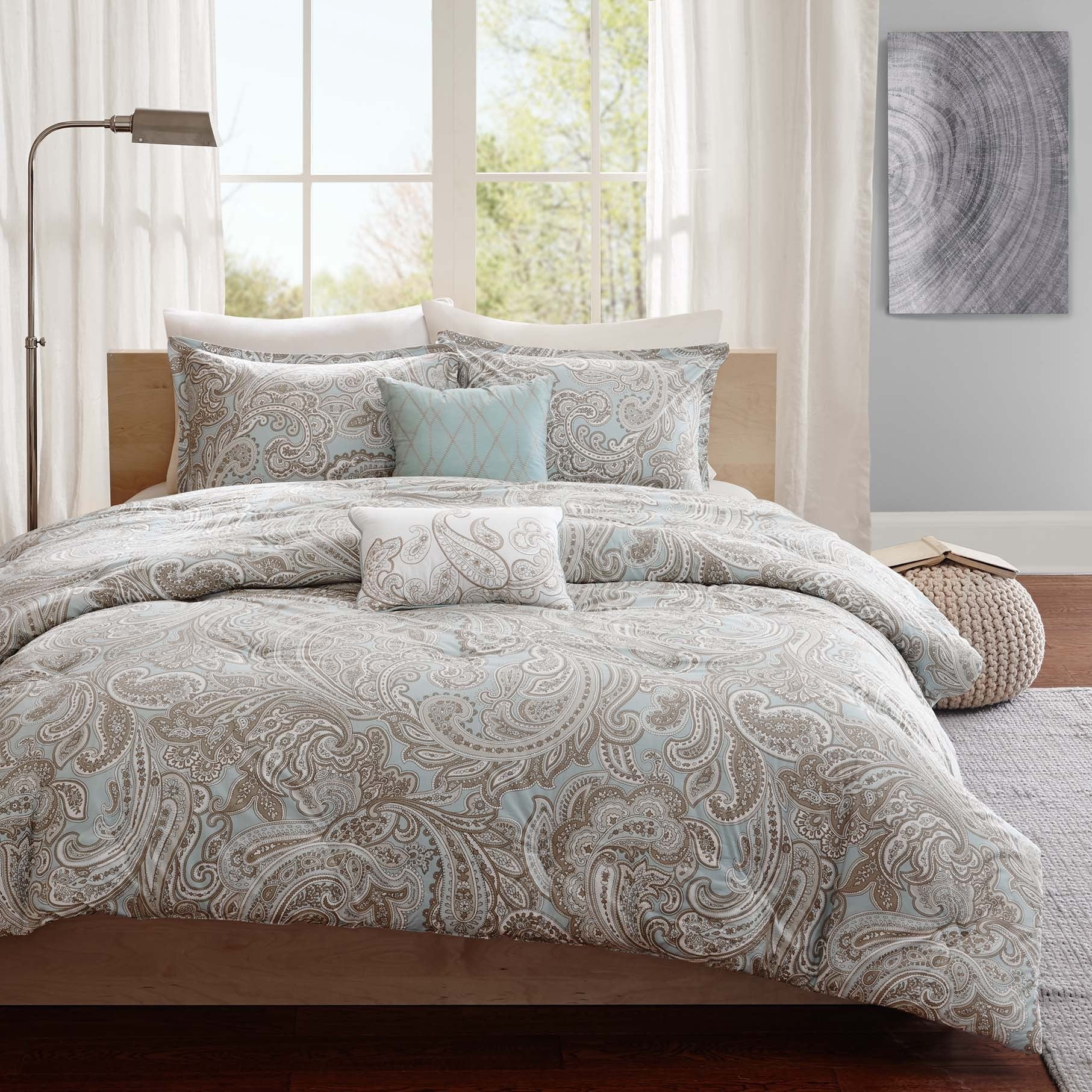 reversible red comforter bedding bed piece product com set georgia cotton bath madison park twill overstock