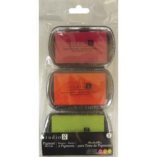 Hampton Art Pigment Ink Pads 3/PkgWarmth