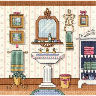 Victorian Sink Counted Cross Stitch Kit10inX10in 14 Count