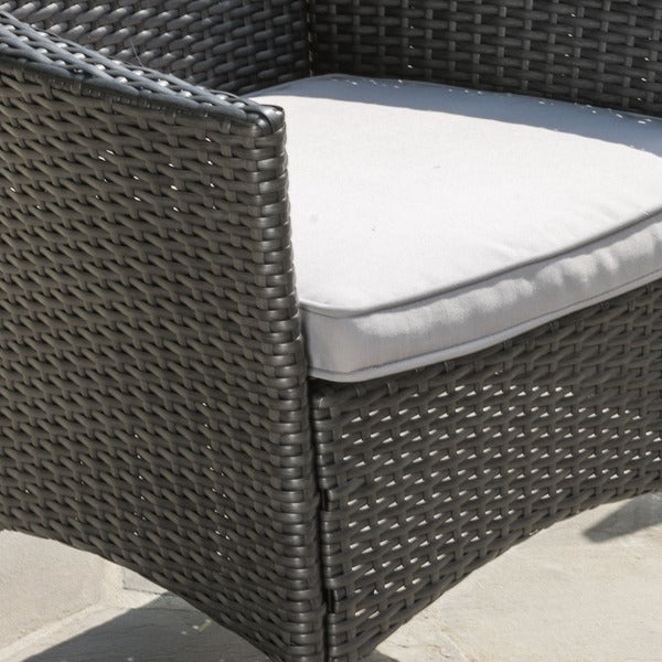 Malta Outdoor Wicker Dining Chair with Cushions (Set of 4) by Christopher Knight Home - Free Shipping Today - Overstock.com - 17643510
