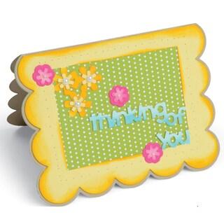Sizzix Framelits Dies By Stephanie Barnard 22/PkgScallop Flowers/Sentiments DropIns Card