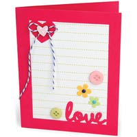 Sizzix Framelits Dies By Stephanie Barnard 14/PkgLovely Sentiments DropIns Card