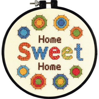 LearnACraft Sweet Home Counted Cross Stitch Kit6in Round 14 Count