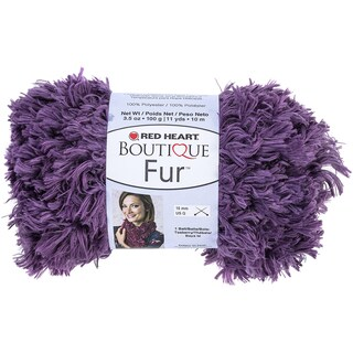 Red Heart Boutique Fur YarnEggplant
