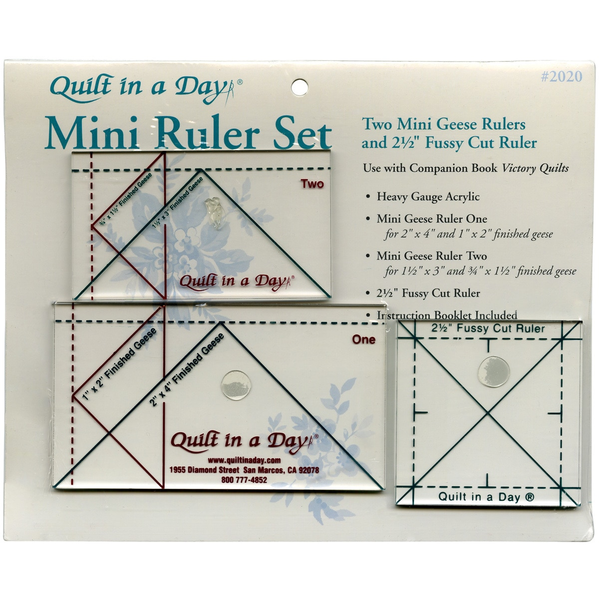 Elite Systems Quilt In A Day Ruler Set3/Pkg (3/Pkg) (Acry...