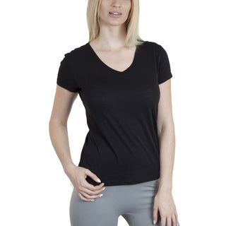 Agiato Apparel Women's Basic Cotton V-neck T-shirt