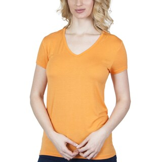 Agiato Apparel Women's Rayon V-neck T-shirt