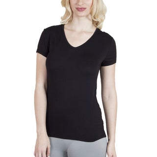 Agiato Apparel Women's Rayon V-neck T-shirt