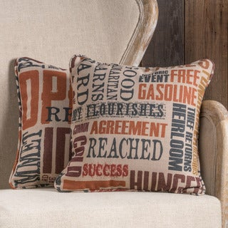 Lori Fabric 18-inch Throw Pillow (Set of 2)