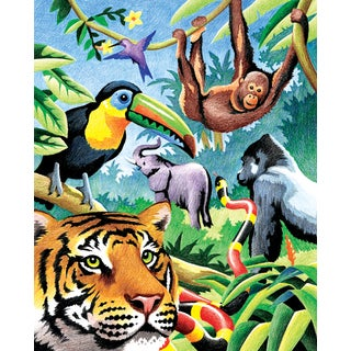 Color Pencil By Number Kit 8.75inX11.75inJungle Animals