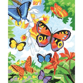 Color Pencil By Number Kit 8.75inX11.75inBright Butterflies