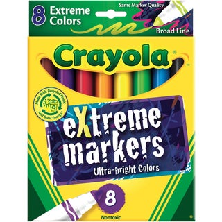 Crayola Broad Line MarkersExtreme Colors 8/Pkg