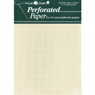 Perforated Paper 14 Count 9inX12in 2/PkgEcru