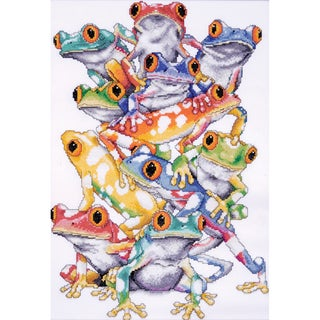 Frog Pile Counted Cross Stitch Kit11inX16in 14 Count