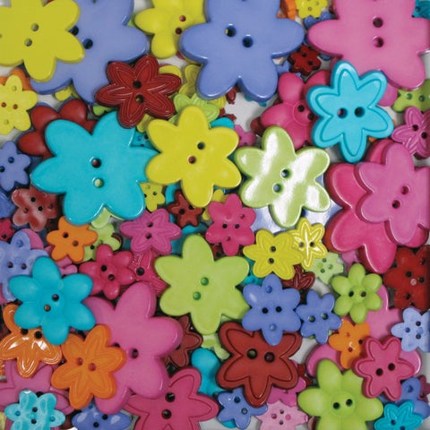 Favorite Findings Big Bag Of ButtonsFlowers 3.5oz