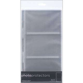 Page Protectors SideLoading 6inX12in 10/Pkg(3) 6inX4in Pockets