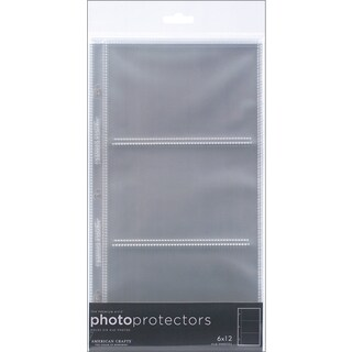 Page Protectors Side Loading 6inX12in 10/Pkg(3) 6inX4in Pockets