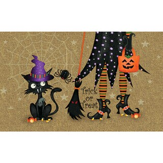 Polytop Witch and Cat Door Mat