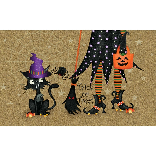 Shop Polytop Witch And Cat Door Mat On Sale Free