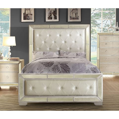 Maxine Modern Champagne Panel Bed by FOA