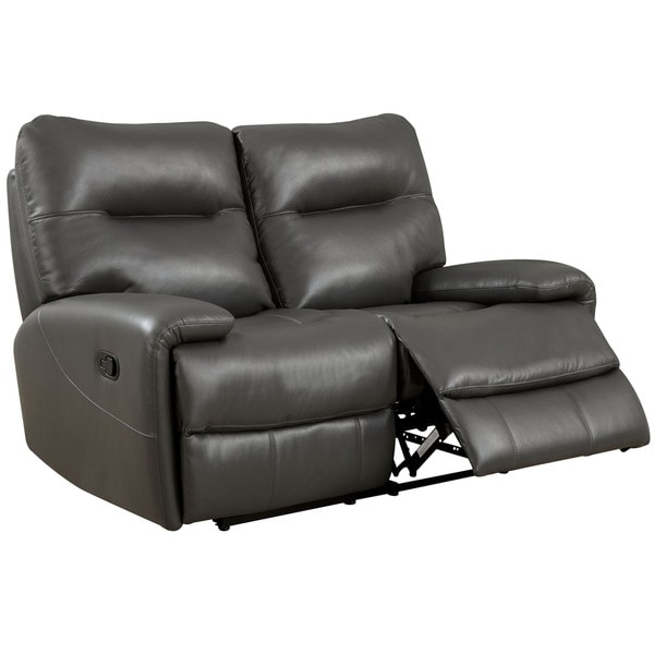 Shop Furniture Of America Taya Sleek Leath Aire Reclining