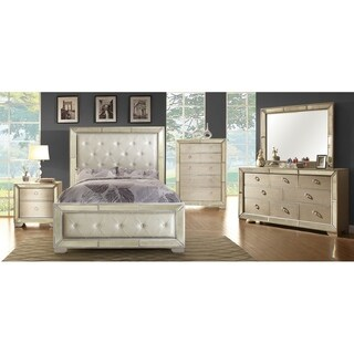 Furniture of America Maxine Modern Silver Mirrored 5-drawer Chest