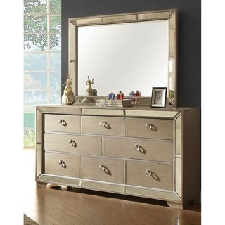 Furniture of America Maxine Modern 2-piece Silver Dresser and Mirror Set