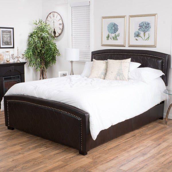 Shop Christopher Knight Home Venus Bonded Leather Bed