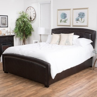 Christopher Knight Home Venus Bonded Leather Bed Set