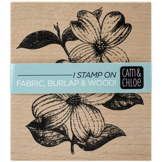 Cam & Chloe Mounted Stamp 4inX3.5inDogwood Flowers