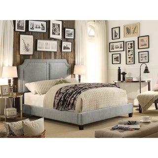 Sanibel Grey Upholstered Queen Platform Bed