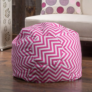 Remy Chevron Lounge Beanbag Chair by Christopher Knight Home