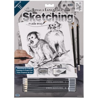 Sketching Made Easy Kit 9inX12inMonkeys