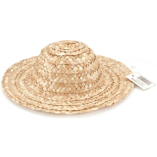 Round Top Straw Hat 18inNatural