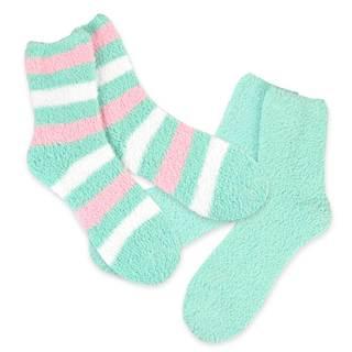 Teehee Cozy Women's Crew Rugby Stripe Socks (Pack of 2)