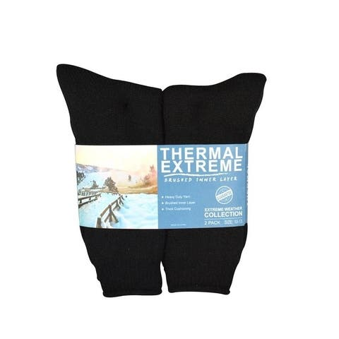 Teehee Super Warmer Brushed Thermal Women's Crew Socks 2 pack