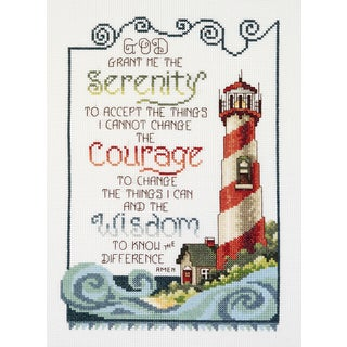 Serenity Lighthouse Counted Cross Stitch Kit7inX10in 14 Count