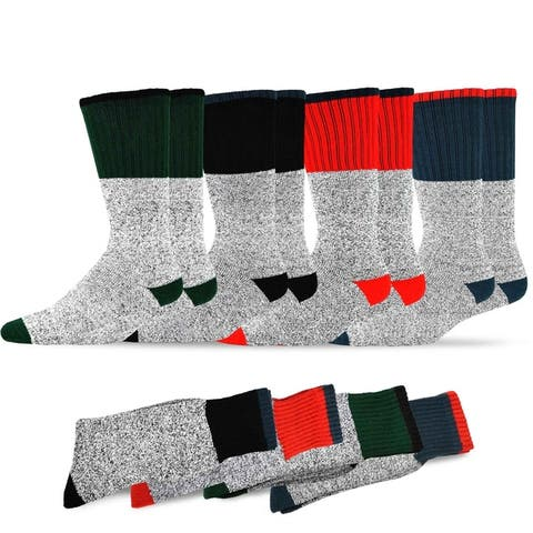 Recycled Cotton Mens and Womens Thermal Boot Socks (Pack of 4)