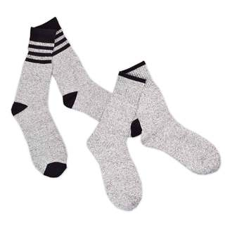 Recycled Cotton Men's and Women's Stripe Thermal Boot Socks (Pack of 4)