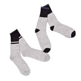 Recycled Cotton Men's and Women's Colorblock Thermal Boot Socks (Pack of 4)