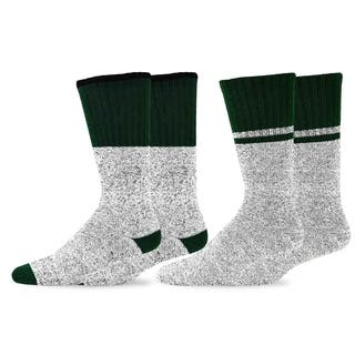 Recycled Cotton Men's and Women's Colorblock Thermal Boot Socks (Pack of 2) https://ak1.ostkcdn.com/images/products/10566405/P17643973.jpg?impolicy=medium